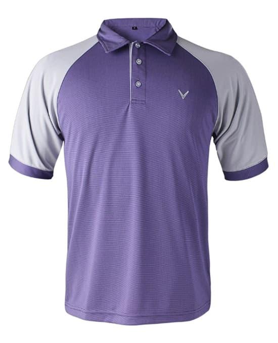 拼色短袖T恤高尔夫
