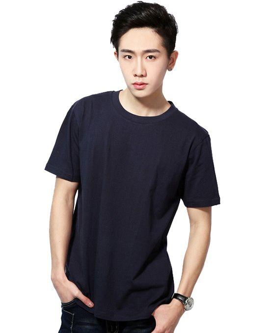 舒适圆领撞色T恤广告衫--C1003