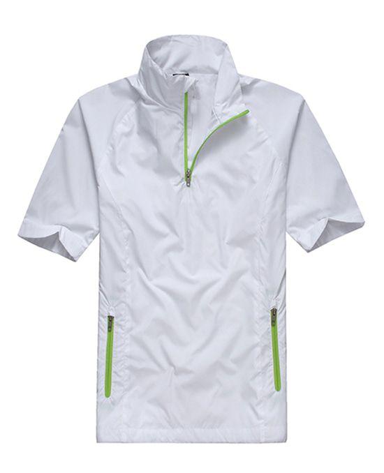 高尔夫男士防风衣短袖外套